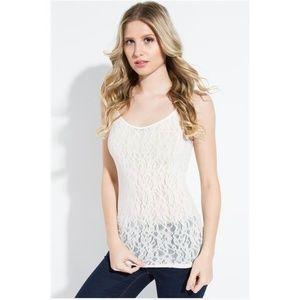 SugarLips Seamless Lace Camisole Blush